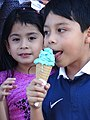 Young Girl and Boy with Ice Cream - Antigua Guatemala - Sacatepequez - Guatemala (15917359621).jpg