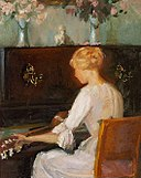 Young Woman Playing a Guitar Before a Piano (Anna Ancher).jpg