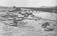 Yuma Crossing and RR bridge in 1886.jpg