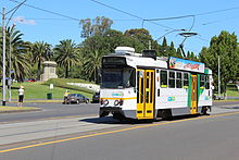 Z1 78 on St Kilda Road on route 3