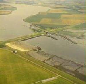 Delta Works - Image: Zandkreekdam 01