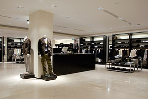Zara (retailer) - The men's department of a typical Zara store. Almere, Netherlands