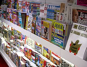 Page layout - Consumer magazine sponsored advertisements and covers rely heavily on professional page layout skills to compete for visual attention.