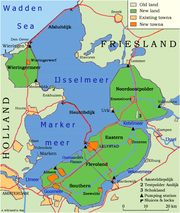 Map of the Zuiderzeeworks in the Netherlands