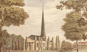 Heinrich Carl von Schimmelmann - Wandsbek with Schimmelmann mausoleum behind the church