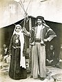 """Bedouin bride and groom."" (Bedouin woman and man in the Streets of Cairo section of the Pike at the 1904 World's Fair).jpg"
