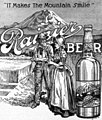 """""""It makes the Mountain Smile"""" and """"Rainier Beer""""- Seattle Brewing and Malting Company 1912 newspaperadvert (cropped).jpg"""