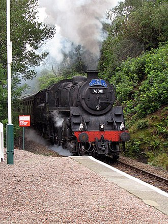The Jacobite (steam train) - The Jacobite approaching Beasdale station