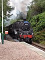 """""""The Jacobite"""" approaching Beasdale Station - geograph.org.uk - 1023985.jpg"""