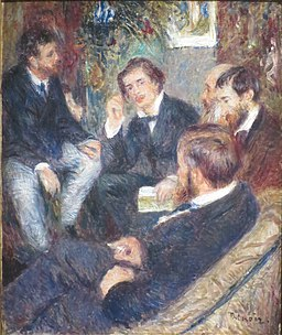 'At Renoir's Home' by Pierre-Auguste Renoir, Norton Simon Museum