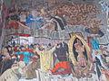 'Holy Right' fresco-secco by Vilmos Novák Aba. St. Stephen's mausoleum. Medieval Ruin Garden - National Memorial. Listed ID 3842. - 5, Várkörút, Koronázó Squre, Belváros, Székesfehérvár, Fejér county, Hungary.JPG