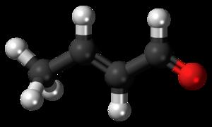 Crotonaldehyde - Image: (E) Crotonaldehyde 3D ball
