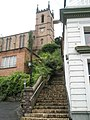 (Very) steep steps up to St Luke's, Ironbridge - geograph.org.uk - 1463256.jpg