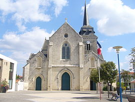 The church in Saint-Hilaire-de-Riez