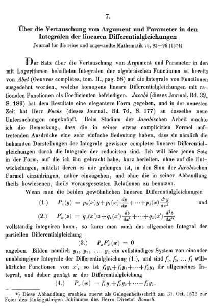 File:Über die Vertauschung von Argument und Parameter in den Integralen der linearen Differentialgleichungen.djvu