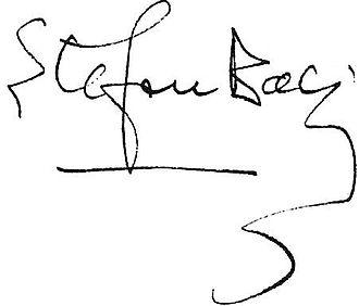 Ștefan Baciu - Image: Ștefan Baciu's signature, 1943