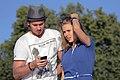 Андрей Батычко и Дарья Мельникова на съемках клипа Батт - Любовь над облаками.JPG