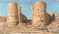 """""""Turkmeni alle porte dell'antica città di Merv, 1914"""""""