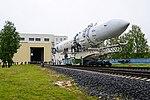 Вывоз и установка ракеты космического назначения «Ангара-1.2ПП» на стартовом комплексе космодрома Плесецк 03.jpg