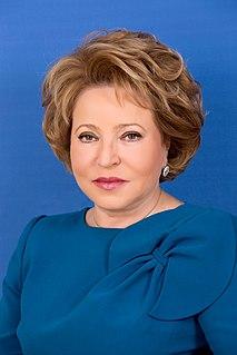 Valentina Matviyenko Russian politician