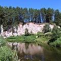 Река Аспа. Обнажение гипса. Уинский район, Пермский край - panoramio.jpg