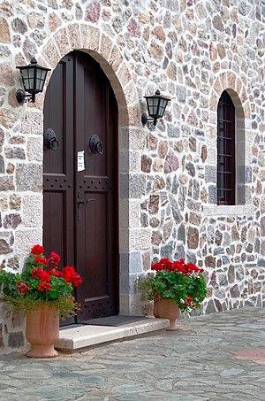 Entrance to the konaks at the Saint Jovan Bigorski Monastery.