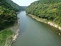 おしどり橋から見おろす川内川 Sendai River View from Oshidori Bridge - panoramio (1).jpg