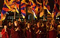 喇嘛與臺灣人為爭自由圖博 (西藏) 而祈禱 Tibetan Buddhism Lama and Taiwanese pray for a Free Tibet in Taipei, TAIWAN.jpg