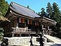 山寺根本中堂 Konponchu-do Hall of Yamadera Temple - panoramio.jpg