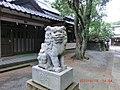 白羽神社の紅い唇の狛犬 - panoramio.jpg