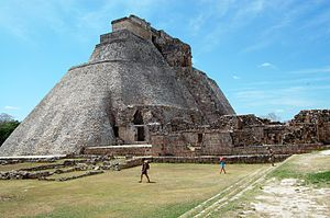 Pyramid of the Magician - Pyramid of the Magician, Uxmal, Mexico. March 2007
