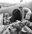 013836 - loading C-47 with ammo to drop near Buna Gona AWM.JPG