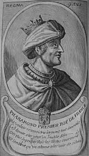 legendary early king of the Franks