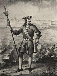 29234e3ba0f4 Офицер пехотного полка с 1700 по 1732 год с протазаном.