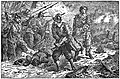 02 Malcolm's courage and humanity at the battle of Schiefelbrune-Illust by Johan Schonberg for Lion of the North by G A Henty.jpg