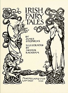 Title page of Irish Fairy Tales, illustrated by Arthur Rackham