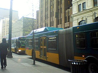 King County Metro - Metro buses in Downtown Seattle