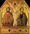 1. Ugolino di Nerio. St. Simon and st. Thaddeus 1324-25 London NG.jpg