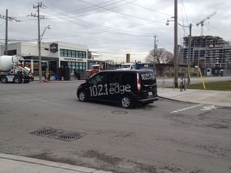 CFNY-FM - 102.1 The Edge van in Toronto.