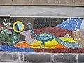 1030 Krummgasse 5 - Mosaik Flötenspielerin von Alfred Kornberger 1968 (2) IMG 8662.jpg