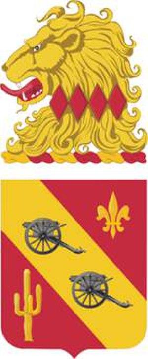 112th Field Artillery Regiment - Coat of arms