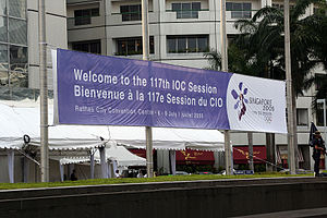 117th IOC Session - Image: 117th IOC Bannar
