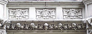 National Arts Club - A detail from the National Arts Club Studio Building at 119 East 19th Street, directly behind the club's headquarters on Gramercy Park