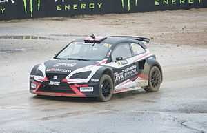 Münnich Motorsport - Reinis Nitišs driving the SEAT Ibiza Supercar