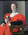 1738 Bronzino Bildnis einer Dame mit Schoßhündchen anagoria.jpg