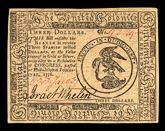 Museum of the American Revolution - Image: 1776 Continental Currency