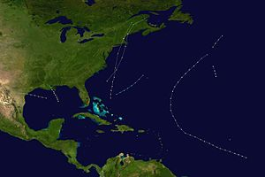 1869 Atlantic hurricane season - Image: 1869 Atlantic hurricane season summary