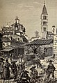 1878, Picturesque Europe, vol II, Market-place, Valladolid (cropped).jpg