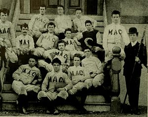 Maryland Terrapins football, 1892–1946 - The first official Maryland Agricultural College football team in 1892