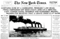 19150508 Lusitania Sunk By a Submarine - The New York Times.png